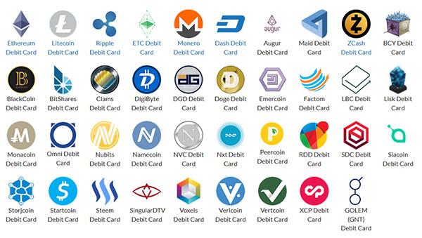 Altcoins suportadas pelo Cartão Débito UQUID