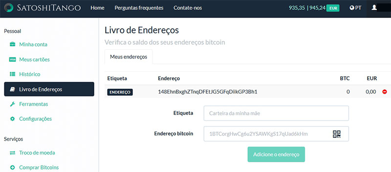 Carteira Bitcoin SatoshiTango