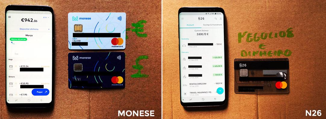 App Monese e N26, para ter um conta online com cartão de débito mastercard