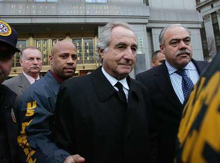 Bernie Madoff no momento em que foi preso
