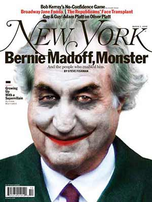Bernie Madoff capa da revista New York