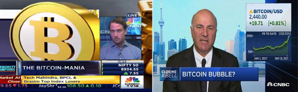 Bitcoin na televisão