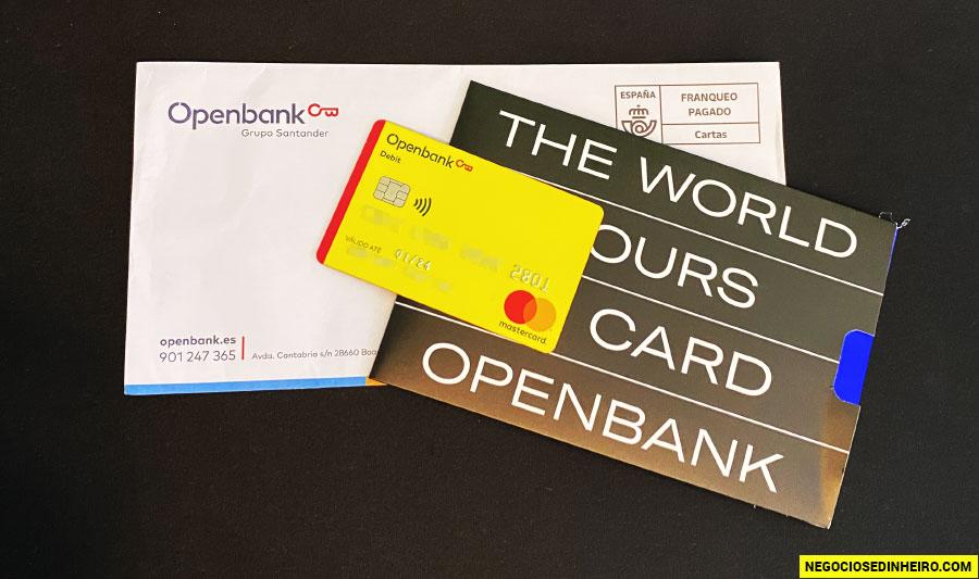 Carta recebida com o Cartão de Débito R42 Openbank