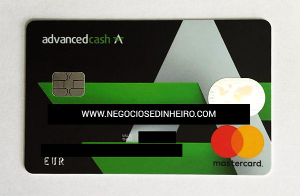 Cartão Bitcoin Advcash da Mastercard