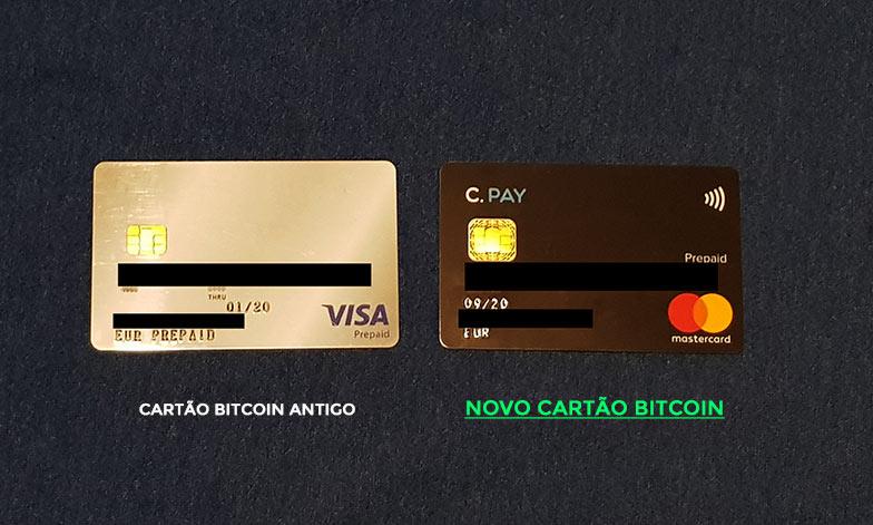 O Cartão Bitcoin antigo da Cryptopay e o novo Cartão Bitcoin Contactless