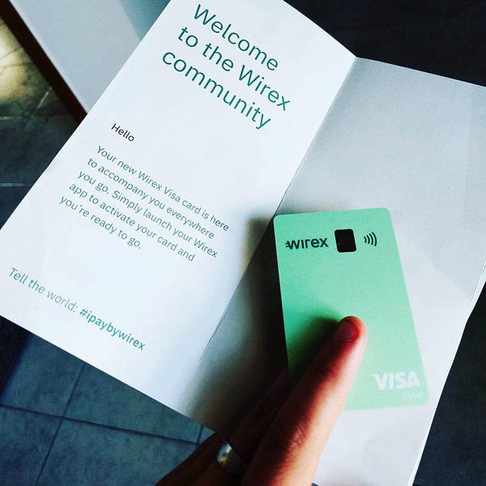 Cartão de Débito Wirex Visa