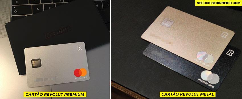 Cartão Revolut Premium e o Cartão Revolut Metal