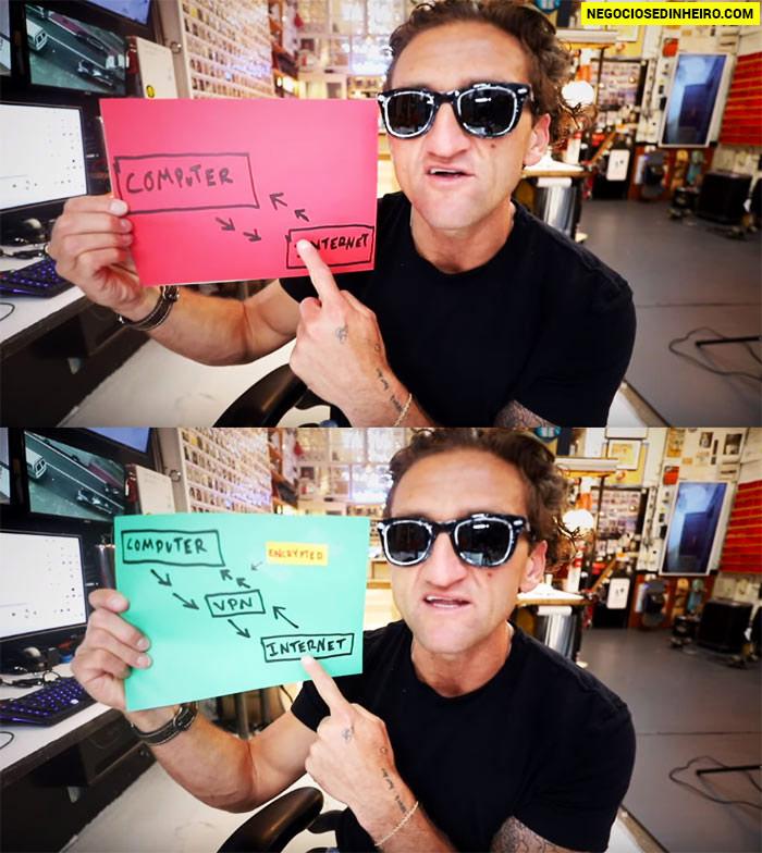 Youtuber Casey Neistat recomenda a NordVPN