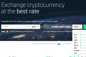 Changelly Exchange de Criptomoedas