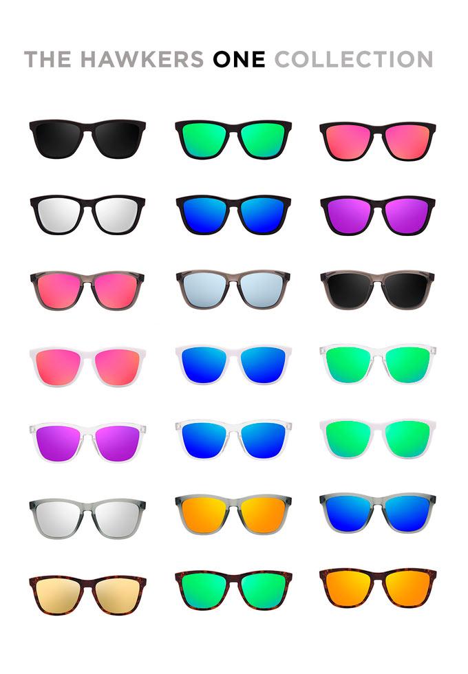 Coleção inicial dos óculos de sol Hawkers