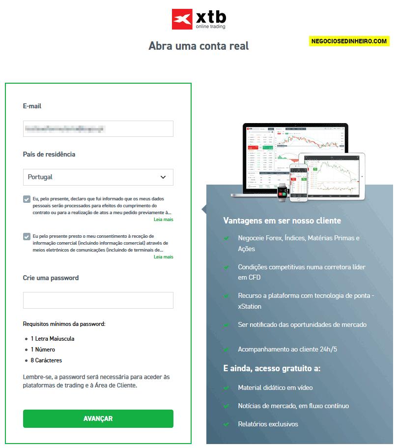 Como abrir conta na corretora XTB