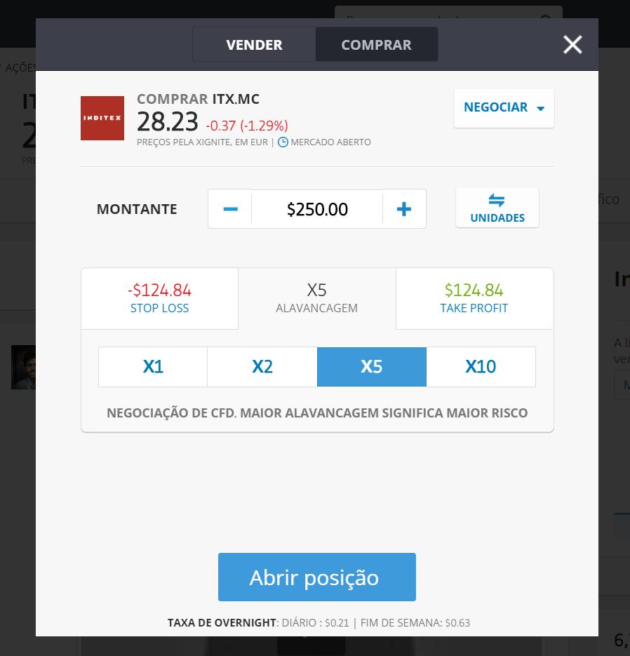 Como comprar ações da Inditex