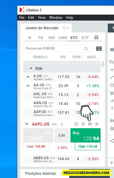 Passos para comprar ações na XTB