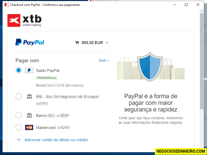 Como depositar dinheiro na XTB