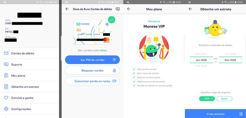 Como funciona a app Monese