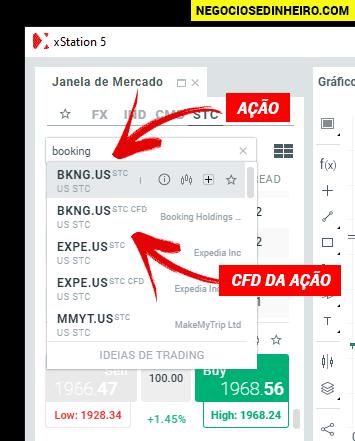 Como comprar ações da Booking na XTB