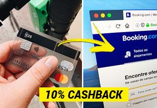 Como receber 10% cashback N26 e Booking.com