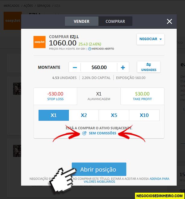 Comprar ações da EasyJet