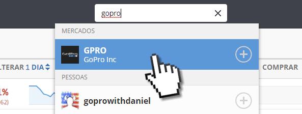 Como comprar ações da GOPRO