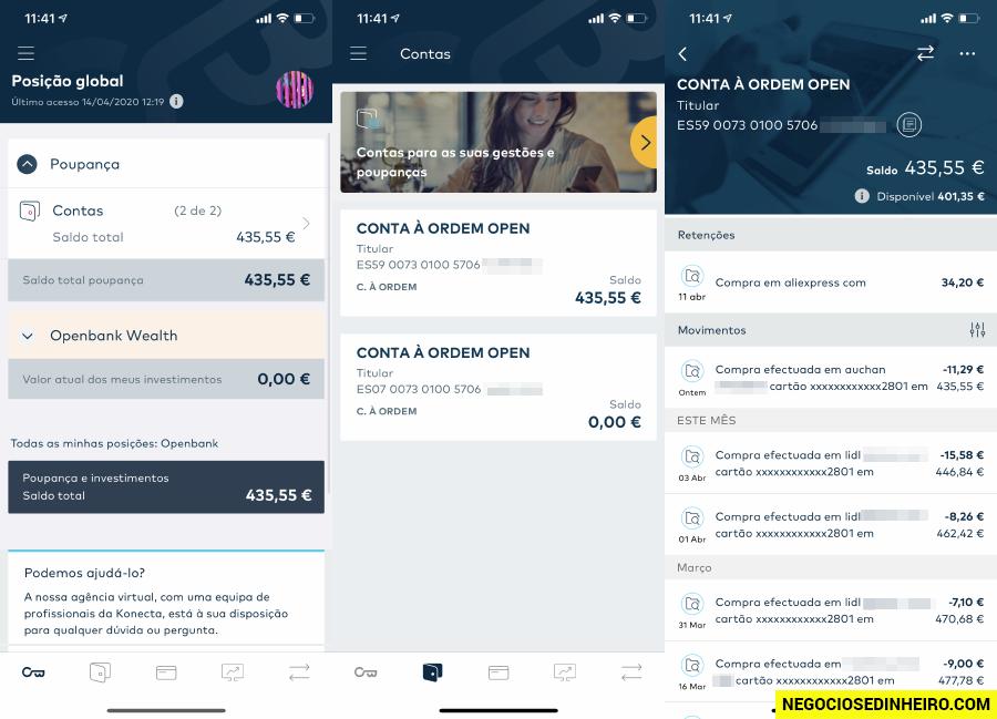 Conta Openbank app
