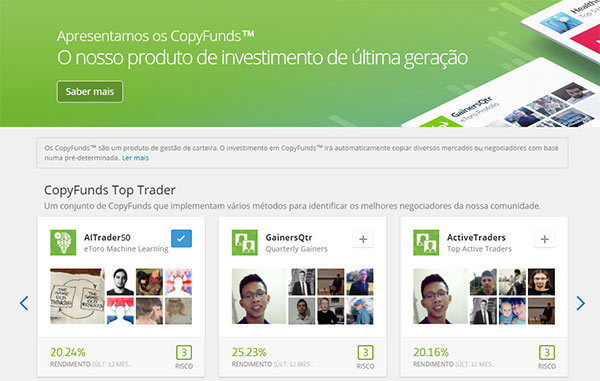 CopyFunds do Etoro