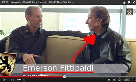 Daniel Filho usa a imagem de Emerson Fittipaldi para dar reputação ao esquema