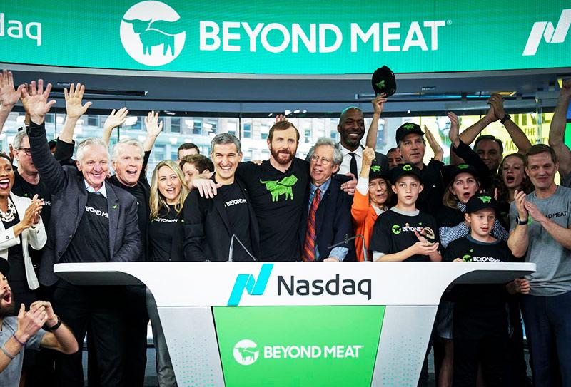 Dia do IPO da Beyond Meat na Bolsa de Valores NASDAQ
