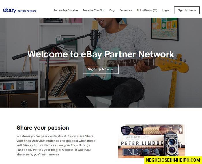 eBay Partner Network, o programa de afiliados do eBay
