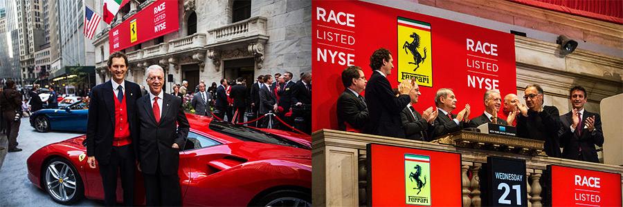 Estreia da Ferrari na Bolsa de Valores de Nova Iorque (NYSE)