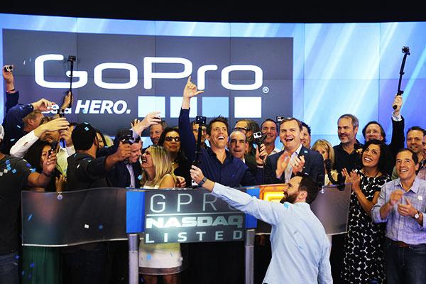 Entrada da GOPRO na Bolsa de Valores NASDAQ