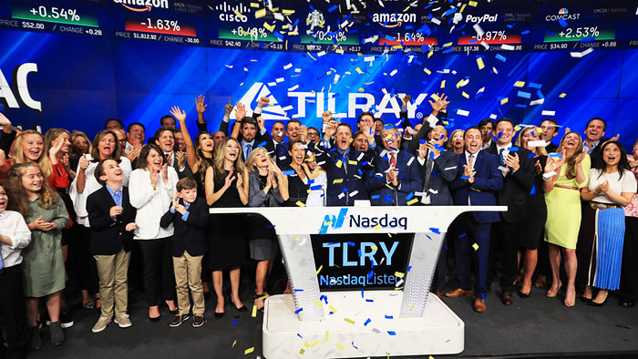 Estreia da TILRAY na Bolsa de Valores NASDAQ