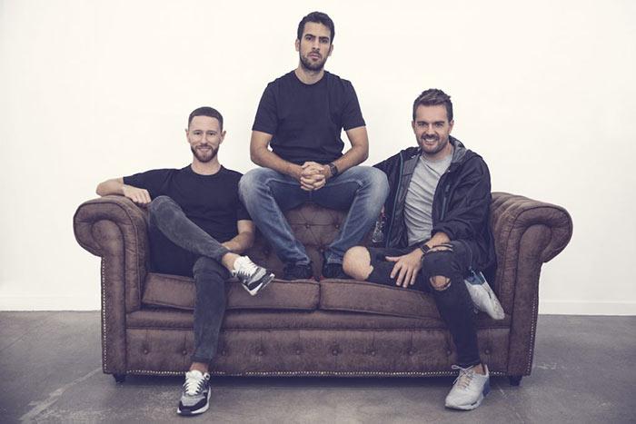 Francisco Pérez, Pablo Sánchez e David Moreno, três dos quatro fundadores.