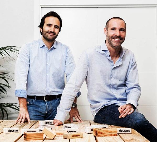 Os fundadores da Housers Álvaro Luna e Tono Brusola