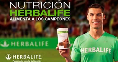 Herbalife usa a imagem do Cristiano Ronaldo para passar uma imagem de credibilidade