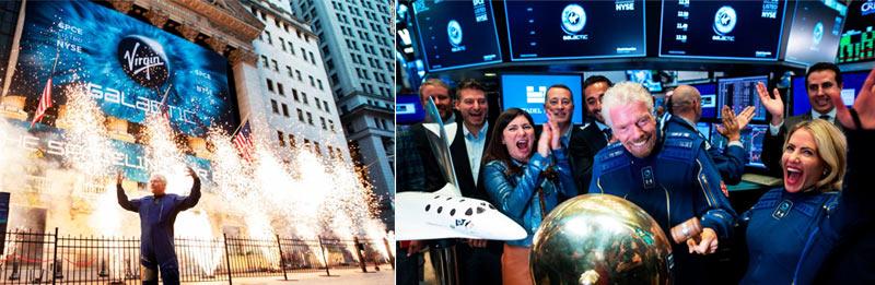 IPO da Virgin Galactic na Bolsa de Valores NYSE