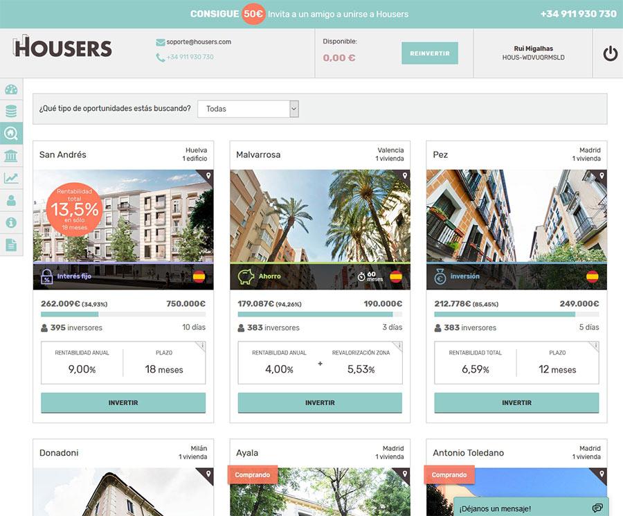 Plataforma crowdfunding housers