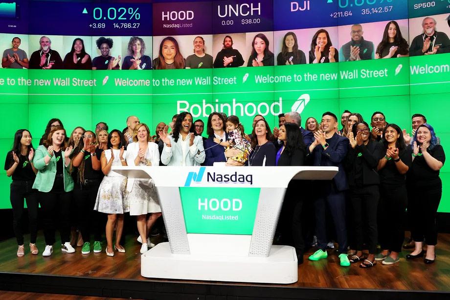 IPO Robinhood na Bolsa de Valores NASDAQ