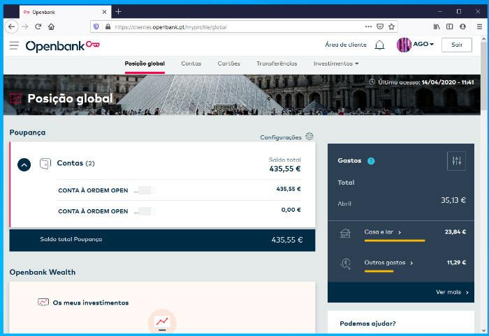 Site da conta Openbank