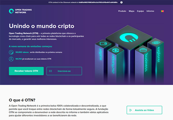 Site do token OTN