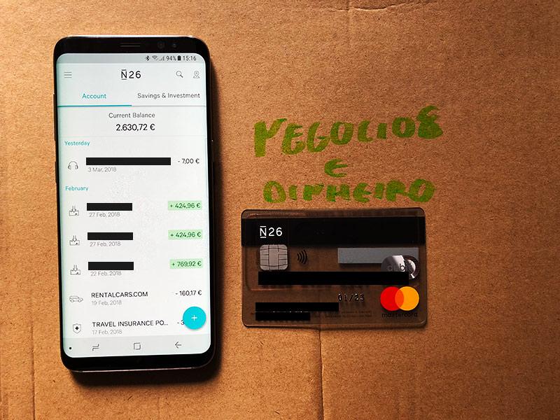 App N26 e o Cartão Débito Mastercard