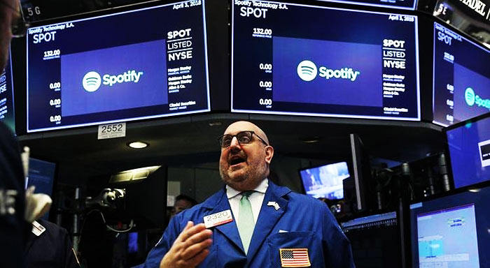 Spotify na Bolsa de Valores NYSE