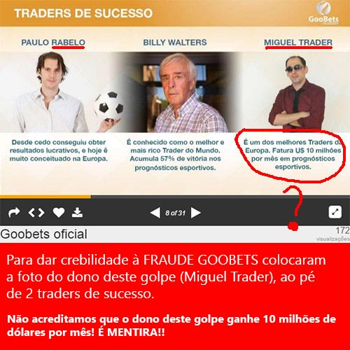 Fraude GooBets colocou os traders Paulo Rebelo e Billy Walters ao pé do dono do golpe